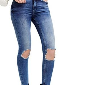 Free People Busted knee High Rise Jeans W 28 L New
